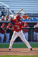 Auburn Doubledays first baseman Diomedes Eusebio (31) at bat during a game against the Batavia Muckdogs on September 7, 2015 at Falcon Park in Auburn, New York.  Auburn defeated Batavia 11-10 in ten innings.  (Mike Janes/Four Seam Images)