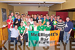 DEVOTED: A party was held for Seated l-r: Daniel Rowley, John Breen, Shane Griffin, Georgeie O'Flaherty, Cinan Ferris and John Sullivan at McElligoitts Bar Ardfert, on Friday night as the seven Irish supporter who will leave Ardfert at 8-am on Saturday morning as they head to Poland to watch Ireland play Croatia, in Poznan, were Ireland play their first game.....