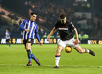 Bolton Wanderers' Yanic Wildschut competing with Sheffield Wednesday's Joey Pelupessy <br /> <br /> Photographer Andrew Kearns/CameraSport<br /> <br /> The EFL Sky Bet Championship - Sheffield Wednesday v Bolton Wanderers - Tuesday 27th November 2018 - Hillsborough - Sheffield<br /> <br /> World Copyright &copy; 2018 CameraSport. All rights reserved. 43 Linden Ave. Countesthorpe. Leicester. England. LE8 5PG - Tel: +44 (0) 116 277 4147 - admin@camerasport.com - www.camerasport.com
