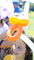 WARRINGTON, PA - SEPTEMBER 27: Cassidy Freedman, 12, of Warrington, Pennsylvania wears a duck balloon hat during Warrington Community Day September 27, 2014 at John Paul Park at Lower Nike in Warrington, Pennsylvania. (Photo by William Thomas Cain/Cain Images)