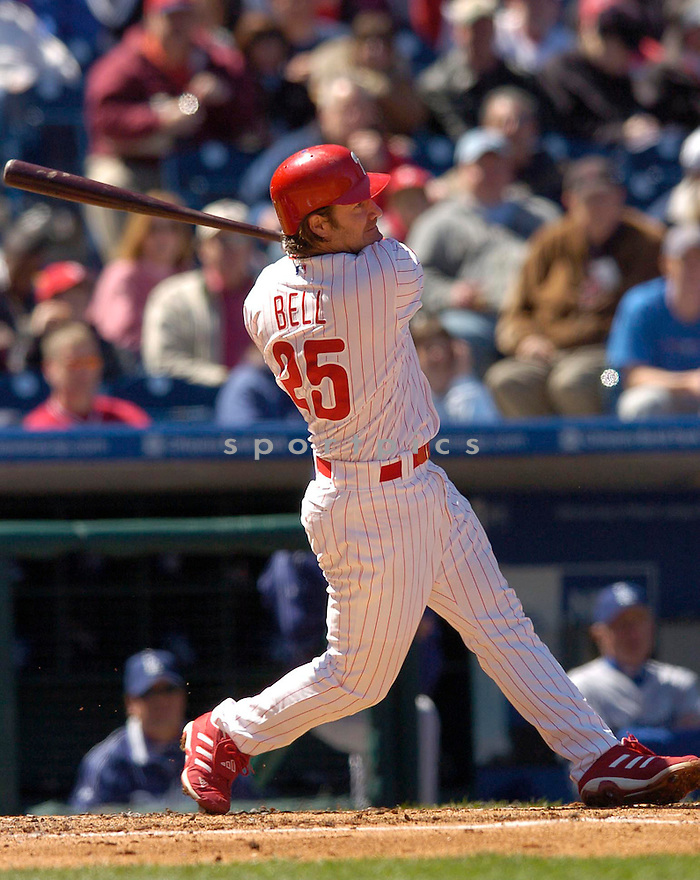 David Bell, of the Philadelphia Phillies in action against the LA Dodgers in Philadelphia on April 9, 2006...Dodgers win 6-2..Chris Bernacchi / SportPics..