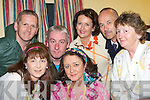 "Players from the Abbeydorney Dramatic Society pictured before their performance of ""Widow's Paradise"" in The Abbeydorney Community Centre on Friday evening, l/r Tadhg O'Shea, Aisling Sharkey, Eugene O'Sullivan, Phil Mullarkey, Ann Fitzgerald, Peter Sharpe and Rose Dowling..   Copyright Kerry's Eye 2008"
