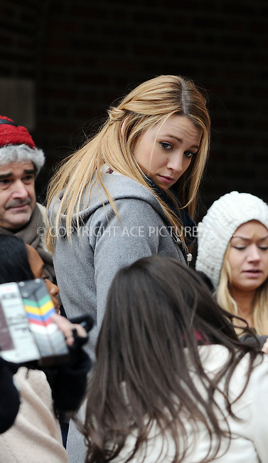 WWW.ACEPIXS.COM . . . . .  ....December 9 2008, New York City....Actress Blake Lively was on the Midtown Manhattan set of the TV show 'Gossip Girl' on December 9 2008 in New York City....Please byline: AJ Sokalner - ACEPIXS.COM..... *** ***..Ace Pictures, Inc:  ..tel: (212) 243 8787..e-mail: info@acepixs.com..web: http://www.acepixs.com