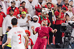 Pedro Correia of Qatar (R) in action during the AFC Asian Cup UAE 2019 Semi Finals match between Qatar (QAT) and United Arab Emirates (UAE) at Mohammed Bin Zaied Stadium  on 29 January 2019 in Abu Dhabi, United Arab Emirates. Photo by Marcio Rodrigo Machado / Power Sport Images