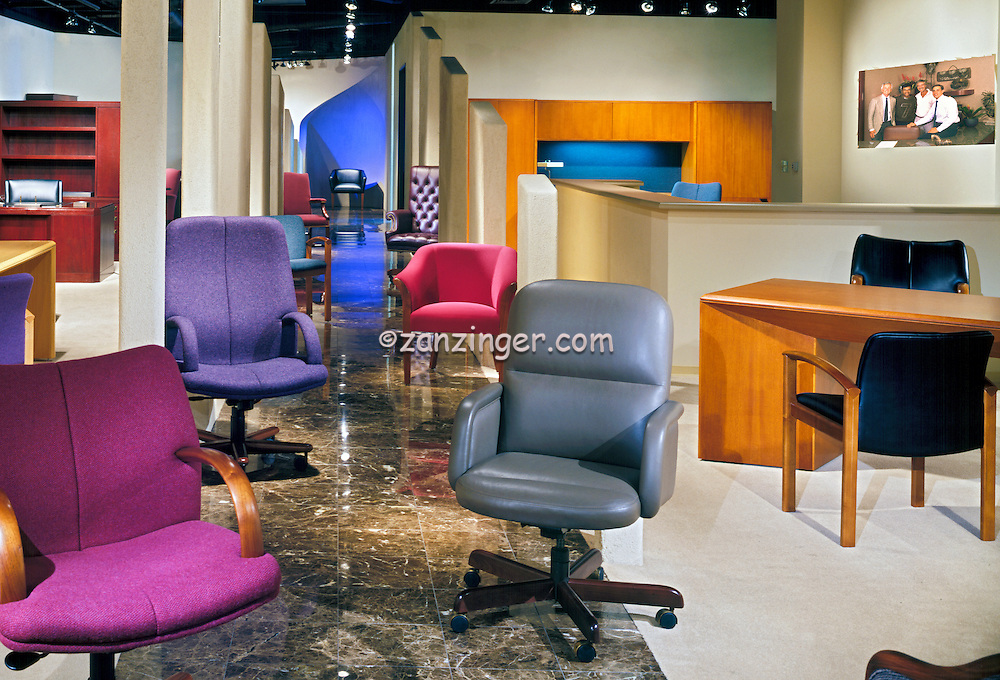 Office Chair Showroom, interior, lifestyle
