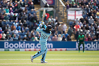 Jason Roy (England) goes high  over wide long on for six during England vs Bangladesh, ICC World Cup Cricket at Sophia Gardens Cardiff on 8th June 2019