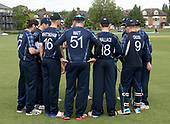 Cricket Scotland - Scotland V Sri Lanka at Kent County cricket ground at Benkenham, in the first of two matches on Sunday (today and Tuesday) - Scotland huddle - picture by Donald MacLeod - 21.05.2017 - 07702 319 738 - clanmacleod@btinternet.com - www.donald-macleod.com