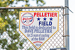 WOLCOTT, CT. 19 July 2019-071919 - Pelletier Field is where the kids played on, during the first annual Dave Pelletier Memorial Baseball Tournament for U8  at the Baseball Association of Wolcott fields in Wolcott on Friday. Dave Pelletier, a popular baseball coach who founded the unified sports program in Wolcott, died in November 2018 at the young age of 55.Bill Shettle Republican-American