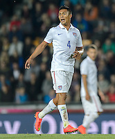 PRAGUE, Czech Republic - September 3, 2014: USA's Michael Orozco during the international friendly match between the Czech Republic and the USA at Generali Arena.