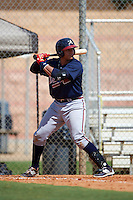 Atlanta Braves Jose Briceno (98) during an instructional league game against the Houston Astros on October 1, 2015 at the Osceola County Complex in Kissimmee, Florida.  (Mike Janes/Four Seam Images)