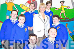 TAKING TIME WITH SCHOOL CHILDREN: As part of her role as Minister for Education and Science, Mary Hanafin TD told the school children that visiting various schools is her favourite part of the job. From front l-r were: Marcus Sugrue, Gerard OConnor, Lucas Cronin, Michael McDonagh and Niall Byrne. Back l-r were: Ramona Scur, Minister Mary Hanafin and Nikola Kiezik.