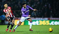 Bolton Wanderers' Mark Little gets away from Brentford's Ollie Watkins<br /> <br /> Photographer Alex Dodd/CameraSport<br /> <br /> The EFL Sky Bet Championship - Brentford v Bolton Wanderers - Saturday 13th January 2018 - Griffin Park - Brentford<br /> <br /> World Copyright &copy; 2018 CameraSport. All rights reserved. 43 Linden Ave. Countesthorpe. Leicester. England. LE8 5PG - Tel: +44 (0) 116 277 4147 - admin@camerasport.com - www.camerasport.com