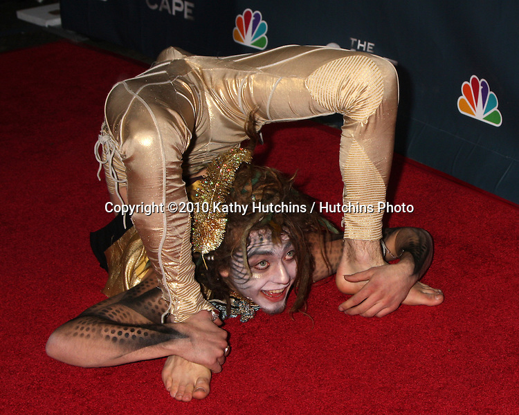 "LOS ANGELES - JAN 4:  Circus Performer Atmosphere arrives at ""The Cape"" Premiere Party at Music Box Theater on January 4, 2011 in Los Angeles, CA."