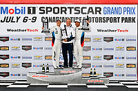 IMSA WeatherTech SportsCar Championship<br /> Mobil 1 SportsCar Grand Prix<br /> Canadian Tire Motorsport Park<br /> Bowmanville, ON CAN<br /> Sunday 9 July 2017<br /> 25, BMW, BMW M6, GTLM, Bill Auberlen, Alexander Sims, celebrates, win, winners, victory lane, podium<br /> World Copyright: Scott R LePage/LAT Images