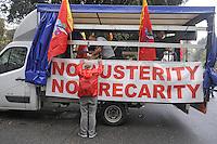 - Milano,  10 ottobre 2014, manifestazione della FIOM, sindacato lavoratori metalmeccanici della CGIL, contro il summit  dei capi di stato europei sul lavoro<br /> <br /> - Milan, October 10, 2014, demonstration of FIOM, the metal workers union of CGIL, against the summit of European heads of state about the job