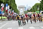 The peloton on the Champs-Elysees during Stage 21 of the 104th edition of the Tour de France 2017, an individual time trial running 1.3km from Montgeron to Paris Champs-Elysees, France. 23rd July 2017.<br /> Picture: ASO/Alex Broadway | Cyclefile<br /> <br /> <br /> All photos usage must carry mandatory copyright credit (&copy; Cyclefile | ASO/Alex Broadway)