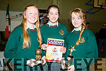 Aoife Flaherty,Yasmin Kahraman and Leah Brennan students of Causeway Comprehensive Secondary School who were presented with the End of the School Awards on Thursday evening at their School.