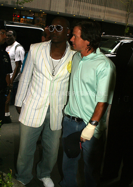 WWW.ACEPIXS.COM . . . . .  ....NEW YORK, AUGUST 9, 2005....Tyrese and Mark Wahlberg at an appearance on MTV's TRL.....Please byline: PAUL CUNNINGHAM - ACE PICTURES..... *** ***..Ace Pictures, Inc:  ..Craig Ashby (212) 243-8787..e-mail: picturedesk@acepixs.com..web: http://www.acepixs.com