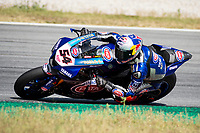8th July 2020; Circuit de Barcelona Catalunya, Barcelona, Spain; FIM Superbike World Championship tests;  Day One; Toprak Razgatlioglu of the Pata Yamaha WORLDSBK Team rides the Yamaha YZF R1