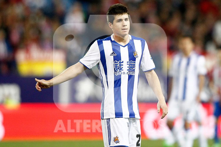 Real Sociedad's Igor Zubeldia during La Liga match. April 4,2017. (ALTERPHOTOS/Acero)