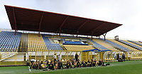 20191107 - Zapresic , BELGIUM : illustration picture shows the warming up in a stretching session of the players during a Matchday -1 training session before a  female soccer game between the womensoccer teams of  Croatia and the Belgian Red Flames , the third women football game for Belgium in the qualification for the European Championship round in group H for England 2021, Thursday 7 th october 2019 at the NK Inter Zapresic stadium near Zagreb , Croatia .  PHOTO SPORTPIX.BE | DAVID CATRY
