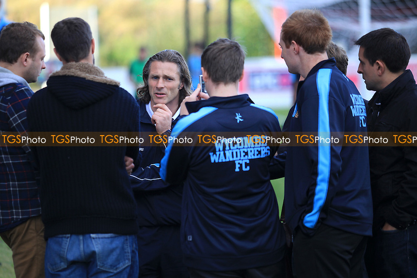 Wycombe's Caretaker Manager, Gareth Ainsworth discusses the game with the media after the match - Dagenham & Redbridge vs Wycombe Wanderers - NPower League Two Football at the London Borough of Barking & Dagenham Stadium - 29/09/12 - MANDATORY CREDIT: Paul Dennis/TGSPHOTO - Self billing applies where appropriate - 0845 094 6026 - contact@tgsphoto.co.uk - NO UNPAID USE.