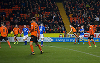16th November 2019; Tannadice Park, Dundee, Scotland; Scottish Championship Football, Dundee United versus Queen of the South; Liam Smith of Dundee United fires in a shot - Editorial Use
