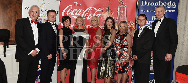 The Coca Cola crew at the Drogheda Independent Sports Star Awards in the Westcourt Hotel.  Photo:Colin Bell/pressphotos.ie