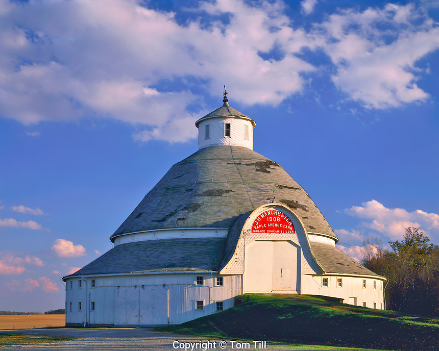 Afternoon Clouds over Manchester Round Barn, Auglaize County, Ohio