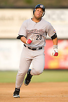 Greeneville Astros first baseman Cirilo Cruz (23) hustles into third base with a triple in the first inning of play versus the Danville Braves at American Legion Field in Danville, VA, Saturday, July 1, 2006.
