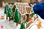 MIDDLEBURY, CT 09 December 2008-120908SV02--St. George's Episcopal Church shows off their gingerbread houses during the 41 annual display in Middlebury Tuesday. The church is holding their annual display and sale from December 6th to the 13th. Steven Valenti Republican-American