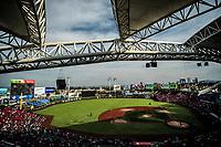 Vista panor&aacute;mica del estadio Panamericano o Estadio de los Charros de Jalisco. Stadium. <br /> .<br /> Partido de beisbol de la Serie del Caribe con el encuentro entre Caribes de Anzo&aacute;tegui de Venezuela  contra los Criollos de Caguas de Puerto Rico en estadio Panamericano en Guadalajara, M&eacute;xico,  s&aacute;bado 5 feb 2018. <br /> (Foto: Luis Gutierrez)<br /> <br /> Baseball game of the Caribbean Series with the match between Caribes de Anzo&aacute;tegui of Venezuela against the Criollos de Caguas of Puerto Rico, at the Pan American Stadium in Guadalajara, Mexico, Saturday, February 5, 2018.<br /> (Photo: Luis Gutierrez)