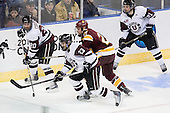 Greg Coburn (Union - 20), John Simpson (Union - 23), David Grun (Duluth - 27), Wayne Simpson (Union - 21) - The University of Minnesota-Duluth Bulldogs defeated the Union College Dutchmen 2-0 in their NCAA East Regional Semi-Final on Friday, March 25, 2011, at Webster Bank Arena at Harbor Yard in Bridgeport, Connecticut.
