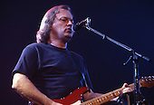 PINK FLOYD -vocalist guitarist David Gilmour performing live in concert on the Momentary Lapse of Reason Tour at the Docklands Arena, London UK - 07 Jul 1989. Photo credit: George Bodnar Archive/IconicPix