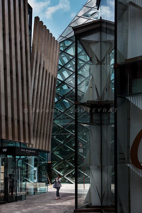 Tokyo, May 2012 - The jewels of Aoyama (Jun Mitsui) and Prada (Herzog & De Meuron) buildings on Omotesando avenue