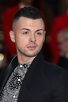 Jaymi Hensley from Union J arriving for the I Can't Sing Press Night, at the Paladium, London. 26/03/2014 Picture by: Alexandra Glen / Featureflash