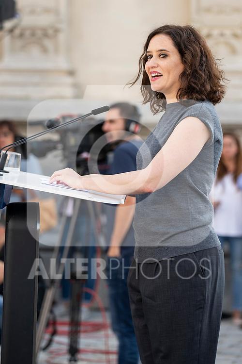 Isabel Diaz Ayuso in the presentation of the Partido Popular program<br />  October 13, 2019. <br /> (ALTERPHOTOS/David Jar)