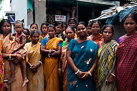 A group of benificiaries of Bandhan Micro finance. Presently more than 3700000 women are benifited by Bandhan Micro Finance. India. Arindam Mukherjee