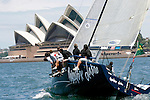 Training session for the Farr 40 Mascalzone Latino, owner Vincenzo Onorato in Sydney Harbour..The FARR ® 40 One Design was conceived as a high performance 40 footer that would gather the benefits of modern materials into an economic platform for short course racing that was demanding, exciting and not beyond the capabilities of relatively inexperienced and mature crew members.