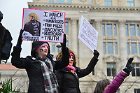 Washington, DC - January 19, 2019: Thousands of people gather in downtown Washington, D.C. for the 2019 Women's March, January 19, 2019.  (Photo by Don Baxter/Media Images International)