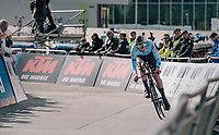 Brent Van Moer (BEL)<br /> <br /> MEN UNDER 23 INDIVIDUAL TIME TRIAL<br /> Hall-Wattens to Innsbruck: 27.8 km<br /> <br /> UCI 2018 Road World Championships<br /> Innsbruck - Tirol / Austria