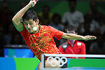 Zhang Jike (CHN), <br /> AUGUST 9, 2016 - Table Tennis : <br /> Men's Singles Quarter-final <br /> at Riocentro - Pavilion 3 <br /> during the Rio 2016 Olympic Games in Rio de Janeiro, Brazil. <br /> (Photo by Yohei Osada/AFLO SPORT)