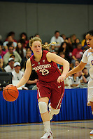 LOS ANGELES, CA - December 31, 2011:  Stanford's Lindy La Rocque during play against the UCLA Bruins at the Wooden Center.   Stanford defeated UCLA, 77 - 50.