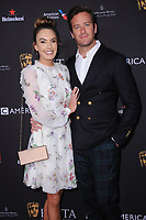06 January 2018 - Beverly Hills, California - Elizabeth Chambers &amp; Armie Hammer. 2018 BAFTA Tea Party held at The Four Seasons Los Angeles at Beverly Hills in Beverly Hills.    <br /> CAP/ADM/BT<br /> &copy;BT/ADM/Capital Pictures