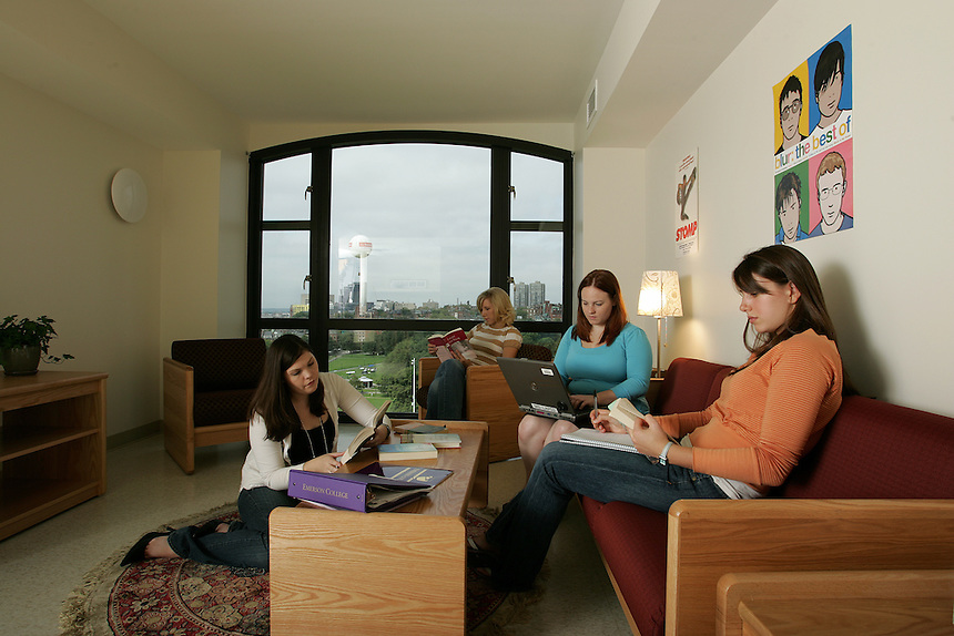 residence hall, Piano Row, students, student, female, male