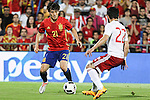 Spain's David Silva and Georgia's Navalovskii during the up match between Spain and Georgia before the Uefa Euro 2016.  Jun 07,2016. (ALTERPHOTOS/Rodrigo Jimenez)
