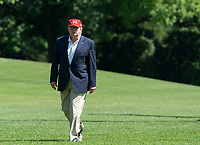 United States President Donald J. Trump returns to the White House in Washington, DC following a trip to Camp David and a stop at his golf course in Sterling, Virginia on Sunday, June 23, 2019.<br /> Credit: Chris Kleponis / Pool via CNP /MediaPunch