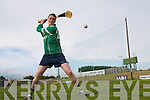Jim Hannafin, Ardfert, pucking the sliotar at the Poc-Fada Kerry Final 2007 at Austin Stack Park, Tralee, on Tuesday evening..