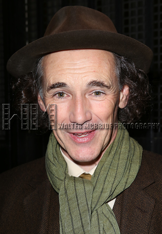 Mark Rylance greets fans at the stage door after the Broadway Opening Night Performance of 'Twelfth Night' at the Belasco Theatre on November 10, 2013 in New York City.