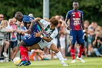 HAREN - Voetbal, FC Groningen - SM Caen, voorbereiding seizoen 2018-2019, 04-08-2018, FC Groningen speler Ritsu Doan houdt zijn tegenstander vast